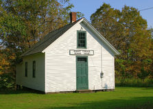 Wooden American school house Royalty Free Stock Images