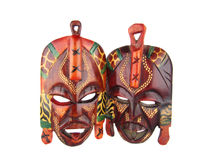 Wooden amerindian masks Royalty Free Stock Images