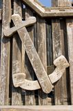 Wooden anchor Stock Photos