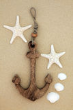 Wooden Anchor Stock Photography