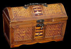 Wooden ancient chest Stock Image
