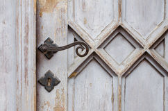 Wooden ancient church door Royalty Free Stock Photos