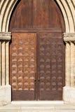 Wooden ancient door Stock Images