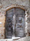Wooden Ancient Frontdoor. Stock Images