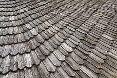 Wooden ancient roof stock images