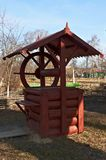 Wooden ancient water well Royalty Free Stock Photos