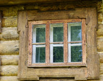 Wooden ancient window Stock Image