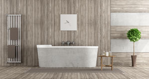 Free Wooden And Concrete Bathroom Royalty Free Stock Images - 89811929