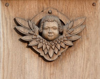 Wooden angel Royalty Free Stock Photography