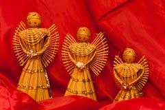 Wooden Angel Figurines Stock Image