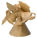 Wooden angel sculpture Royalty Free Stock Images