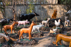 Wooden animal figurines Stock Photography