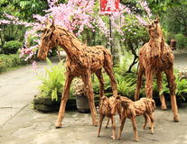 Wooden animals Stock Images