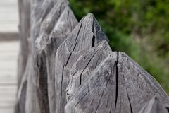 Wooden antique palisade Royalty Free Stock Photo