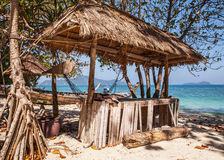 Wooden arbor on beach. Thailand - Phuket Royalty Free Stock Photos