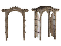 Wooden arbor Stock Images