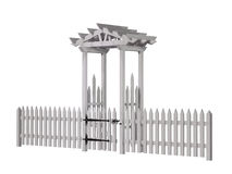 Wooden arbor, gate, fence Stock Photography