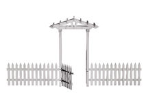 Wooden arbor, gate, fence, Stock Images