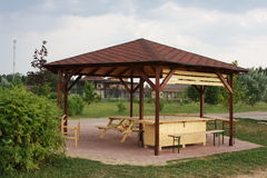 Wooden arbour Royalty Free Stock Images