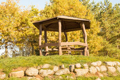 Wooden arbour on the hill Royalty Free Stock Images