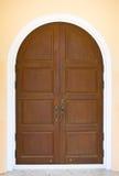 Wooden Arc Door Royalty Free Stock Image