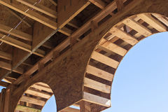 Wooden Arch Royalty Free Stock Photography