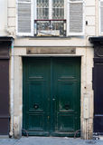 Wooden arch entry door in Paris Stock Photos