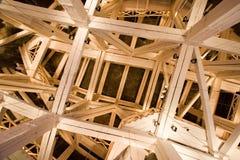 Wooden arch in Wieliczka salt mine Stock Photos