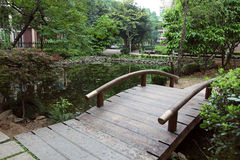 Wooden Arched Bridge Royalty Free Stock Images