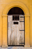 Wooden arched entrance. Stock Photo