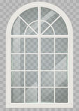 Wooden arched window Stock Images