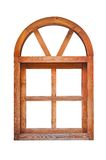 Wooden arched window Stock Photos