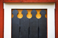 Wooden architectural decor Stock Images