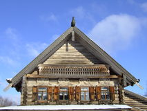 Wooden architecture. Wooden log hut in Novgorod Royalty Free Stock Photos