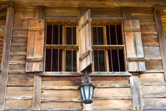Wooden architecture in Bulgaria: architraves Stock Photos
