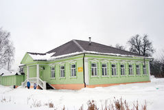Wooden architecture of Dmitrov city, Moscow region, Russia. Wooden architecture of Dmitrov city in winter, Moscow region, Russia. Taken in Dmitrov Cremlin Royalty Free Stock Photography