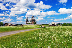 Wooden architecture on island Kizhi Royalty Free Stock Photography