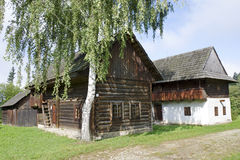 The wooden architecture from Kysuce region stock image