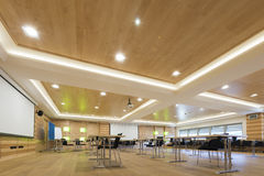 Wooden architecture of modern conference room Royalty Free Stock Photography