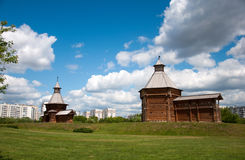 Wooden architecture of17th century, Moscow, Russia Royalty Free Stock Photography