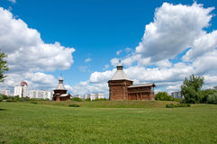 Wooden architecture of17th century, Moscow, Russia Stock Images