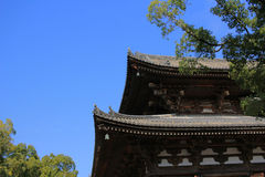 Wooden architecture of To-ji Temple in kyoto Royalty Free Stock Image
