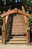 Wooden Archway. Arch entry way to a set of wooden stairs Stock Photography