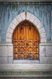 Wooden Archway Doors Stock Image