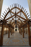 Wooden Archway at Dubai Mall Stock Images