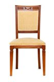 Wooden Arm Chair Isolated On The White Royalty Free Stock Images