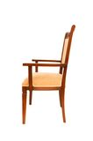 Wooden Arm Chair Isolated On The White Royalty Free Stock Photos