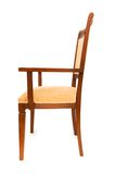 Wooden arm chair isolated on the white Stock Photo