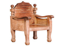 Wooden arm chair Stock Image