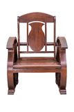 Wooden arm chair. Stock Images